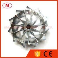 TB25 46.52 / 60.13mm 11 + 0 lames Performance Turbo Billet Compresseur Compresseur / Aluminium 2618 / Moulinage pour cartouche de turbocharge / Chra / Core
