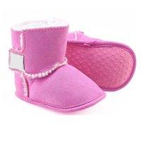 Baby skor nyfödda pojkar och tjejer varma snö stövlar spädbarn toddler prewalker skor storlek 11cm-12cm-13cm