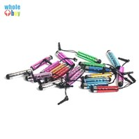 5000pcs / lote Mini lápiz táctil de lápiz lápiz táctil con enchufe de polvo para teléfono móvil Tablet PC