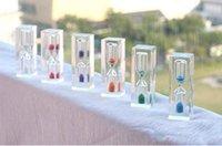 Mini horloges de sable coloré Sablier Timer 3 minutes pour les enfants Bruth dents Health Cadeau Décoration de la maison GWD6367
