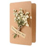 Biglietti d'auguri 3D Fiori stellati fiori secchi pieghevoli evento di nozze Invito senior Christmas Desider Nasth Desider Craft (con