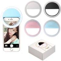 Selfie Universal Selfie LED Bague Flash Light Portable Téléphone portable Selfie Lampe Lumineuse Pince pour iPhone X XS Mas 8 Plus Samausng Huawei DHL
