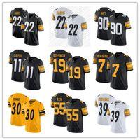 2021 22 Nejee Harris Football Jersey Chase Claypool 19 Juju Smith-Schuster 7 Ben Roethlisberger 90 T.J. Watt hombres personalizados mujeres jóvenes PittsburghSteelerSteelers
