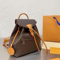 2021 المصممين الرجال النساء حقائب عالية الجودة الحقائب المدرسية عادي تنقش خطابات الكتف حقيبة مونتسوريس