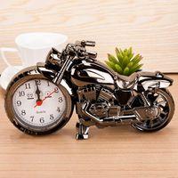 Modelo de motocicleta despertador relojes de alarma de motocicleta Decoración del hogar Decoración de alarma Super Cool Holiday Creativo Retro Regalo Decoración BC BH0730