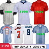 Eng Land Retro Men Soccer Jerseys 1986 1986 1998 2002 2008 Shearer Beckham 1989 1990 Gerrard Scholes Owen 1994 Heskey 1996 Gascoignese Jersey Camicia da calcio classica