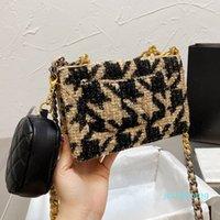 Designer- verão vintage xadrez tweed tecido trançado sacos da carteira com moedas bolsas dessingers senhoras senhoras top lidar com totes