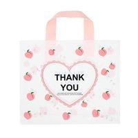 Спасибо сумки для бизнеса 50pack love сердце персики пластиковые сумки с мягкой петлей ручка спасибо покупками