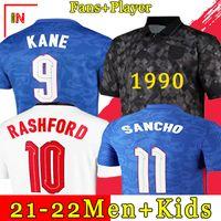 ENGLAND 2020 2022 축구 유니폼 케인 스털링 라쉬 퍼드 산초 헨더슨 바크리 맥 루이어 20 22 National Football Shirts 남성 + 키즈 키트 세트 유니폼
