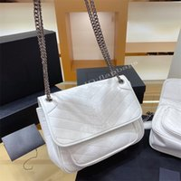 2021 Luxurys Women Designers Ni-kis pliegues pliegues de hombro cadena bolsa bolso bolso bolso tofu cruz cuerpo embrague tots clásico bolsas blancas bolsos bolsos bolsos bolsos billetera billetera