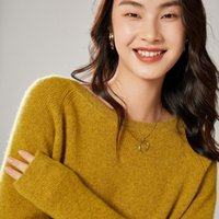 Women's Sweaters 2021 Autumn Winter Women And Pullovers O-Neck 100% Wool Wild Female Knitted Loose Casual Jumper 6 Colors