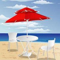Tendas e abrigos duplos camadas guarda-chuva uv protetor uv portátil eólico telescópico areia ajustável sem base (