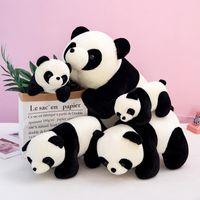 Zappget spielzeug plüschtier baby panda kawaii gefüllte puppe hochwertige dreidimensionale pp baumwolle kurze plüsch weihnachten geschenk niedlich tier öffnen der box Überraschung großhandel