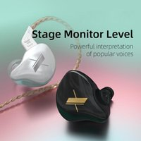1DD سماعات ديناميكية مركبتي باس سماعات الأذن في الأذن مراقب الرياضة إلغاء الضوضاء الكريستال سماعة كريستال KZ zst x ED9 ED12 سماعات الرأس
