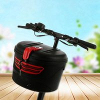 Cycling Bags Electric Bicycle Front Frame Car Basket Mountain Bike Plastic Special Storage With Lock