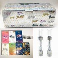 Runtz Carts Atomizers Push Vape Cartridges Package 0.8ml 1.0ml ceramic Press on tips Vape pens Empty 510 oil Vaporizer atomizer with display box