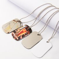 Necklace Sublimation Blanks Designer Jewelry DIY Men Stainless Steel Silver Side Pendants Party Valentine's Day Gift Necklaces