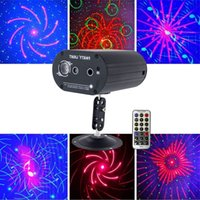 Mini Laser Lighting Projector Remote Full Stars Pattern Light DJ Environment Dance Disco Bar Party Xmas Effect Stage Lights Show
