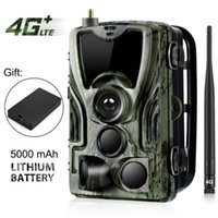 HC-801LTE 4G Avcılık Kamera 16MP 64GB Trail IP65 PO TRAPS 0.3S Vahşi Hediye Kameralar Için 5000mAh Lityum Pil ile
