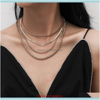 Chokers Necklaces & Pendants Jewelrywomen Iced Out Pendant Gold For Birthday Year Gift Women Collier De Designer Necklace Drop Delivery 2021