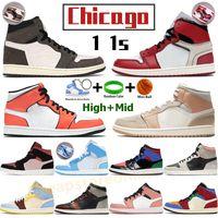 Chicago High 1 1s buty do koszykówki męskie sportowe sneakers kaktus kaktus rdzy rdzy cień nie niebieski biały mid milan wilk szary żagiel mężczyźni stylisty