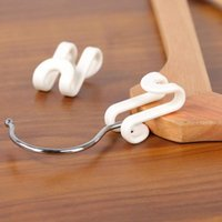 Hooks & Rails Hanger Connection Hook Superimposed Folding Clothes Support Cabinet Magic Storage Artifact