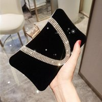 Red Female Handbag Black Dinner 2021 Evening New Arrival Bag Banquet Bridal Hand Bags AEO3 Party Single Shoulder Small Square With Vqixc