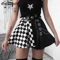 Goth Dark Mall Gothic Grunge Плед Женщины Мини Юбки Плиссированные Черный Панк Эстетики Эмо Альту Одежда Harajuku Сексуальная Уличная Юбка