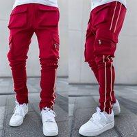 Hommes Pantalon Casual Sports Active Joggers Fashion Streetwear Hip Hip Sweatpants avec poche