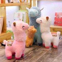 New Beautiful 25 35cmAlpaca Lama Knuffel Pop Animal stuffed dolls Soft Pluche Alpaca For Kids Birthday Gifts 4 Colors