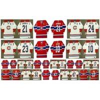 Ra Vintage Montreal Canadiens Jersey 10 Guy Lafleur 32 Lemieux 47 Stephan Lebau 17 Rod Langway 11 Kirk Muller 12 Yvan Cournoyer CCM Hóquei