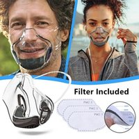 PC Designer Transparente Clear Face Mask Anti Nevoeiro S PROTETIVE Adultos Poeira Boca respirável S com filtro FY9339