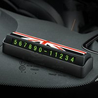Interior Decorations Telephone Number Card Plate For MINI Cooper Car Phone Luminous Hidden Styles Temporary Parking Interiors Accessories
