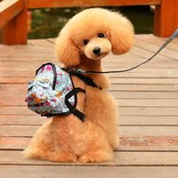 Dog Car Seat Covers Pet Cat Backpack With Harness Leash Small School Bag Outdoor Training Walking Portable