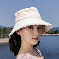 Wide Brim Hats Elegant Bucket Hat Solid Color Women Summer Sun Protection Fisherman Breathable Beach Travel Outdoor Cap Femme Gorro 2021