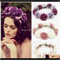 Okdeals moda donna bambini ragazze matrimonio fiore corona floreale ghirlande fascia fascia fascia fascia excru wub0w