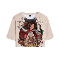 ميازاكي هاياو حماسي بعيدا أنيمي المرأة القمصان الفيلم أوجينو تشيهيرو 3d المحاصيل فتاة قميص مثير الملابس عارضة