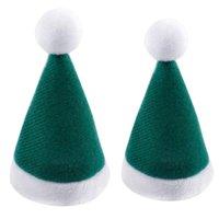 Christmas Decorations 10pcs Set Mini Hat Santa Claus Xmas Apple Wine Bottle Caps Gift For Tree Ornament Decor G
