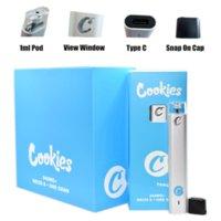 Cookies Delta 8 THC0 VAPE PEN Engångs elektroniska cigaretter POD-enhet Tomma PODS 1 ml Kapacitet med 280mAh uppladdningsbart batteri