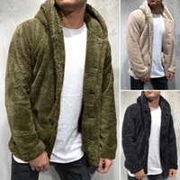 2021 autumn and winter men's hooded solid color coat sweater fashion trend menswear 1028OX4V{category}