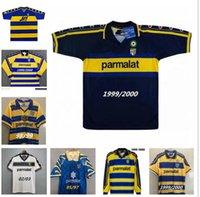 Parma Calcio Retro Soccer Jersey Clássico 1995 1997 1998 1999 2000 2001 2002 2003 95 97 99 00 Baggio Crespo Canavaro Camisa de Futebol Vintage Thuram 01 02 03