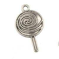 diy bracelets charms woman man necklaces pendants candy set epoxy enamel antique silver metal fashion jewelry accessories new 35*19mm 100pcs