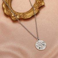 Vintage Round Pendentif Charm Aimez-vous à la Lune Colliers à chaîne arrière Punk bijoux pour hommes et femmes