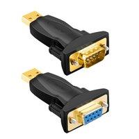 كابلات الكمبيوتر موصلات USB2.0 إلى DB9 خط التسلسل 9PIN ميناء كوم USB RS232 الذكور أنثى محول مطلية بالذهب DB محول
