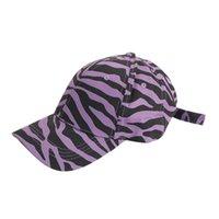 زيبرا شريط بيسبول قبعة البقر الحبوب غسلها الكرة قبعات حزب صالح الأزياء في الهواء الطلق الشمس الاحتفالية القبعات لوازم 8styles HHC7561