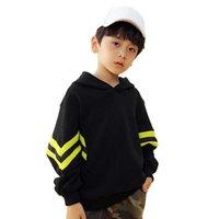 Children Boy Girl Hoodies Jumpers Sweater Black Coat Casual Kids Toddler Jacket Sweatershirt Autumn Pockets Tops G0917
