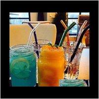 12 farbe special feine gebogene pipet umweltglas gesundheit baby pipette trinken sts ecofriendly wxdpm mdthb