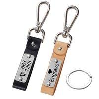 الحلي مخصصة الحروف كيرينغ سلسلة المفاتيح الجلود الرجال سلاسل المفاتيح حامل للسيارة الحفر اسم مخصص شعار هدية شخصية