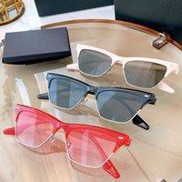 21SS 선글라스 Dasha Ladys 최신 고양이 눈 모양의 여성 혼합 소재 판금 프레임 퓨전 패션 간단한 스타일 렌즈 UV400 효과적인 보호
