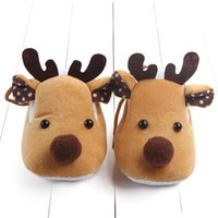 First Walkers Baby Shoes Anti-Slip Sneakers Christmas Deer Shape Born Boy Soft Flat Infant Girl Crib Sole